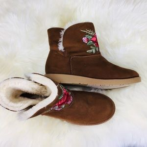 Embroidered Faux Fur Lined Boot by Rock&candy